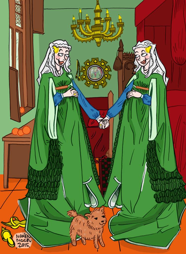 Matrimonio Arnolfini (Versión alternativa)