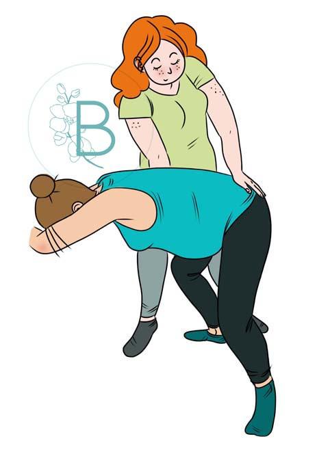 """Ilustraciones para clínica de fisioterapia perineal """"Berkana""""."""