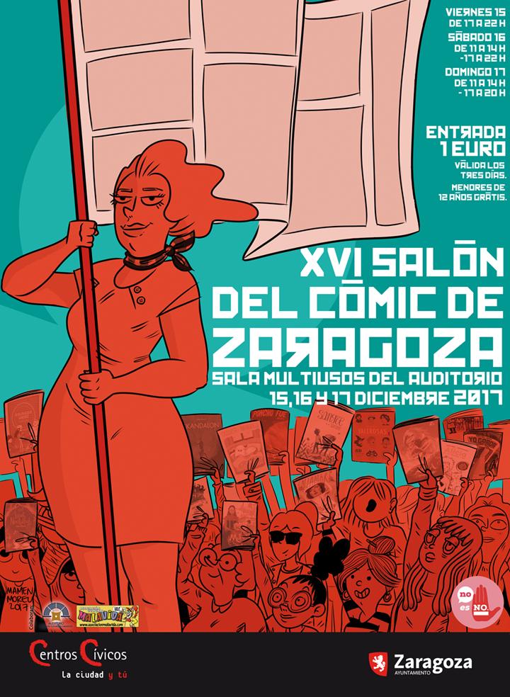 Cartel Salón del cómic de Zaragoza 2017