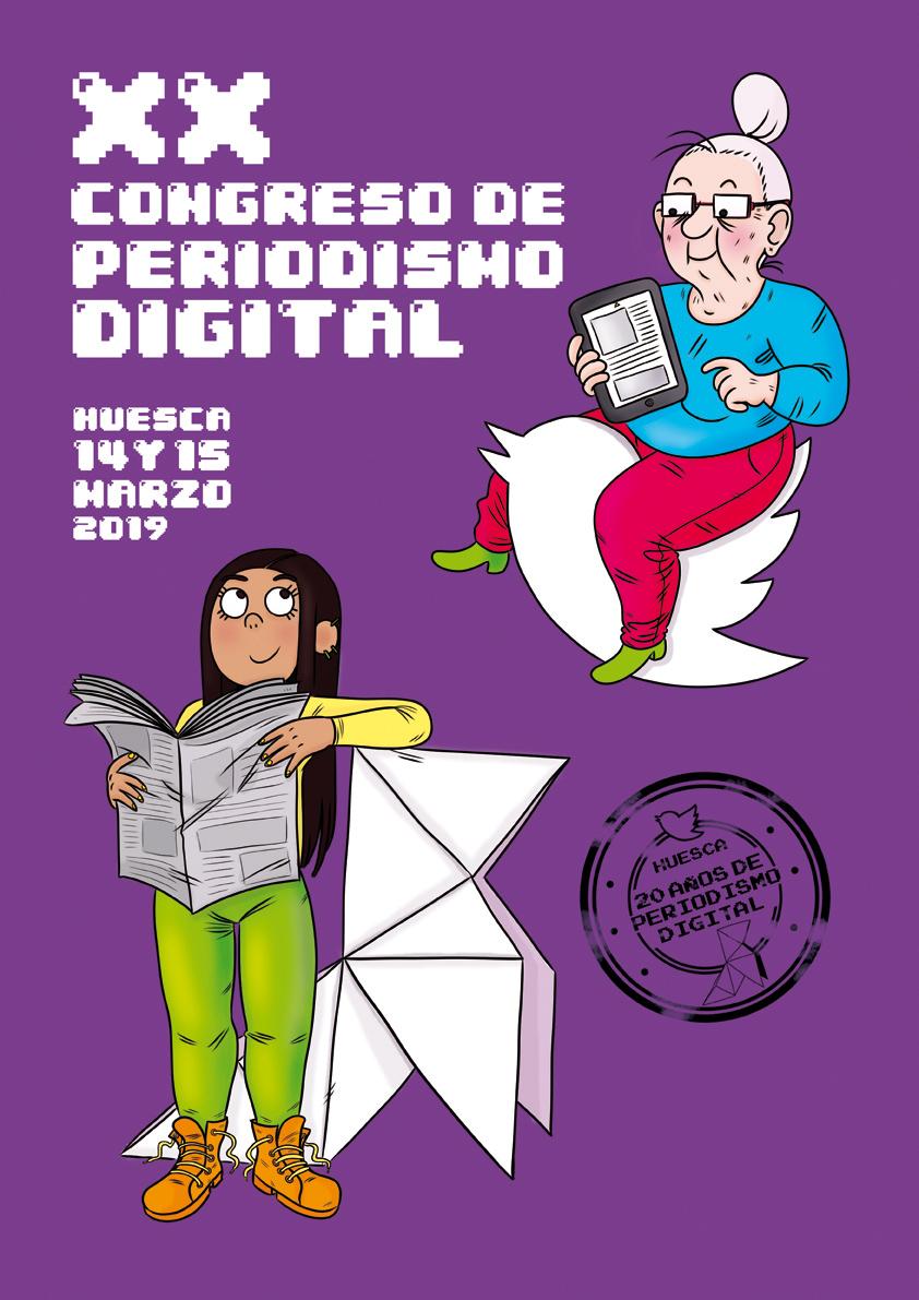 Cartel para el congreso de periodismo digital Huesca